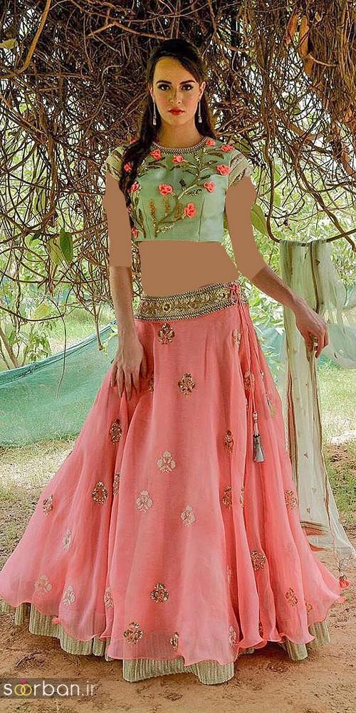 لباس عروس هندی و مجلسی بلند