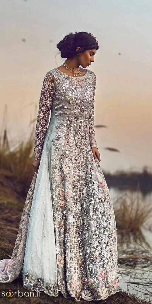 لباس عروس هندی بلند شیک و جدید