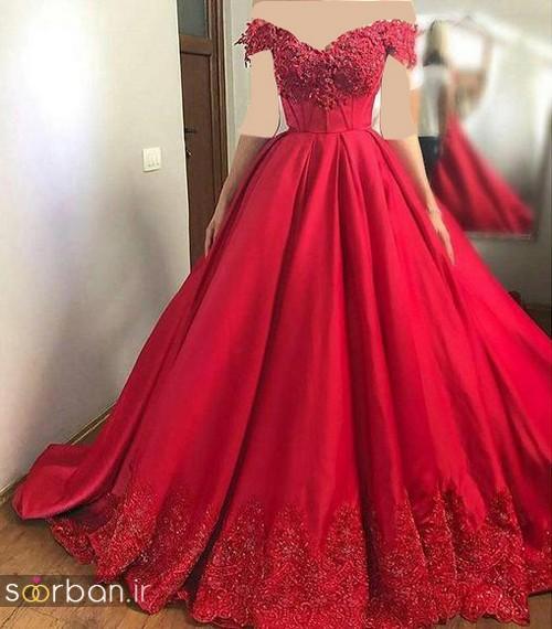 لباس حنابندان، عقد و نامزدی قرمز بلند شیک و جدید