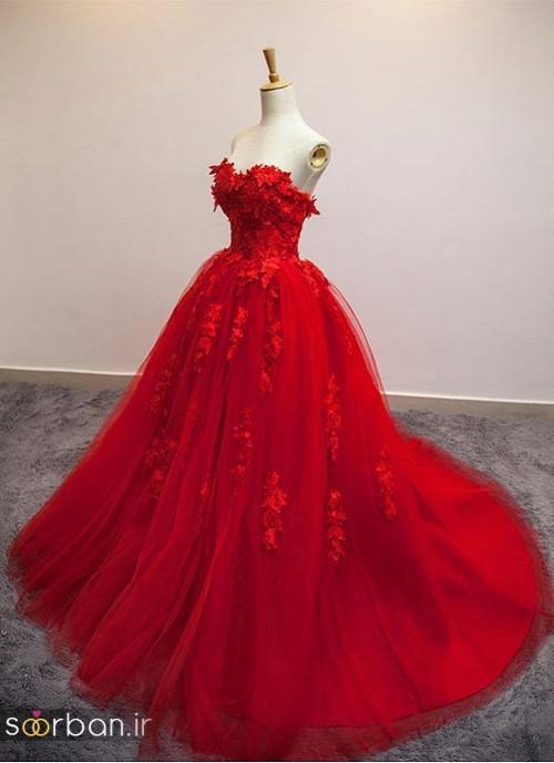 مدل لباس حنابندان، عقد و نامزدی قرمز بلند  2018