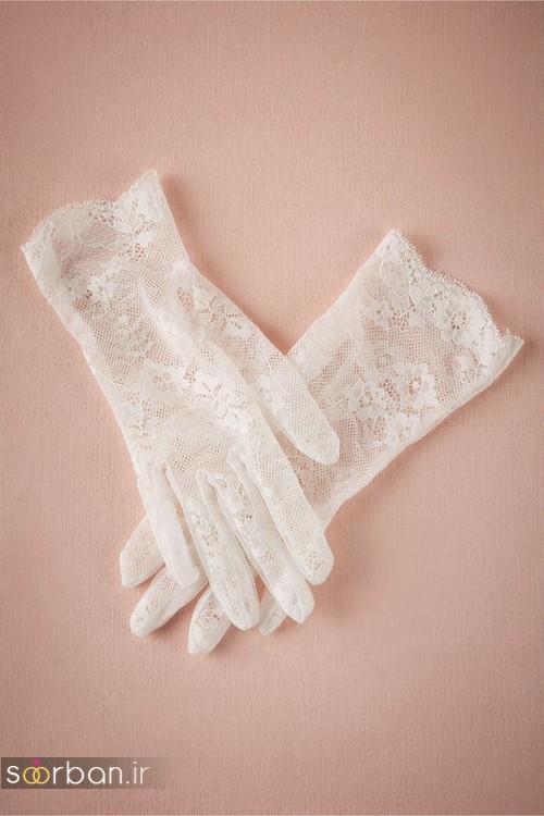 دستکش عروس جدید با تور دانتل