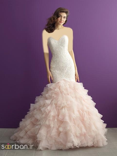 لباس عروس دکلته شیک1