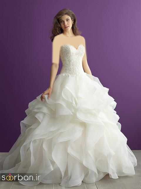لباس عروس دکلته شیک