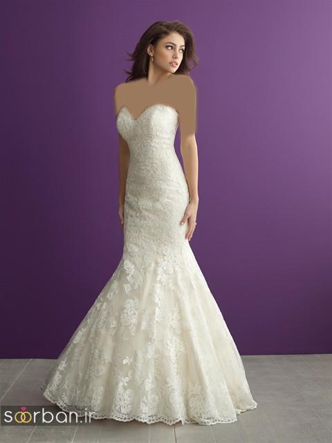 لباس عروس دکلته شیک3