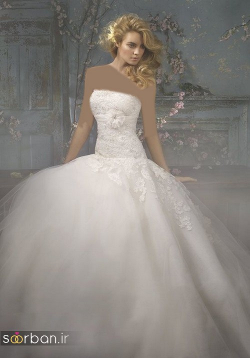 لباس عروس دکلته شیک5