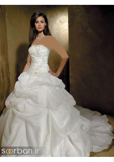 لباس عروس دکلته شیک6