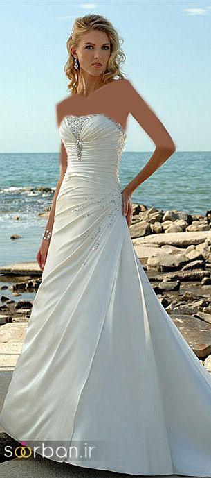 لباس عروس دکلته شیک8