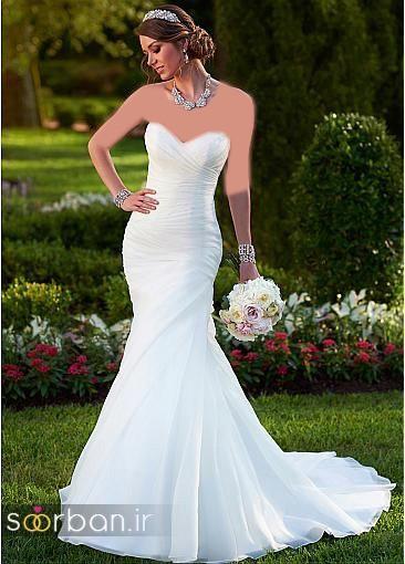 لباس عروس دکلته شیک12