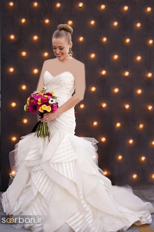 لباس عروس دکلته شیک13
