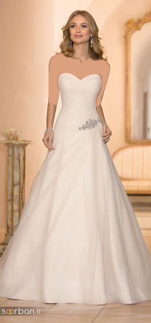 لباس عروس دکلته شیک14
