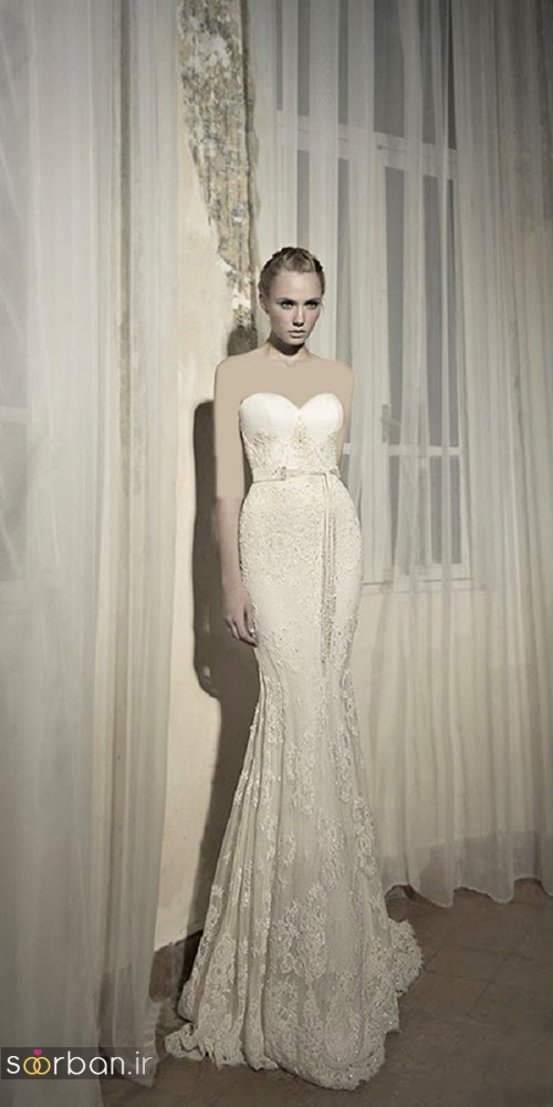 لباس عروس دکلته شیک18