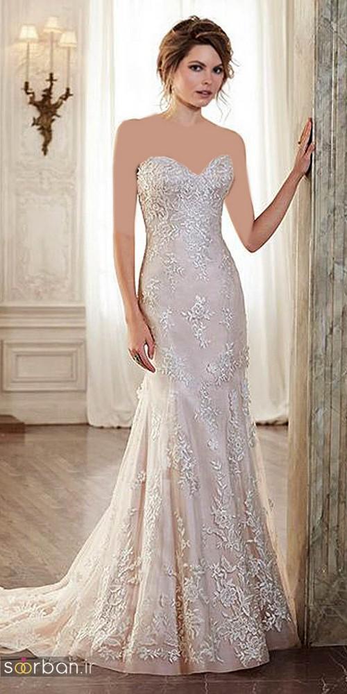 لباس عروس دکلته شیک19