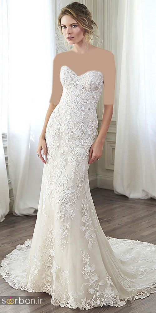لباس عروس دکلته شیک0
