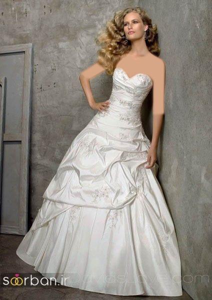 لباس عروس دکلته شیک21
