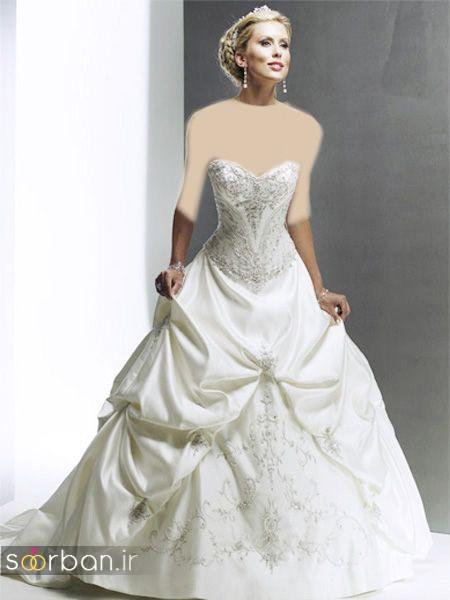 لباس عروس دکلته شیک23