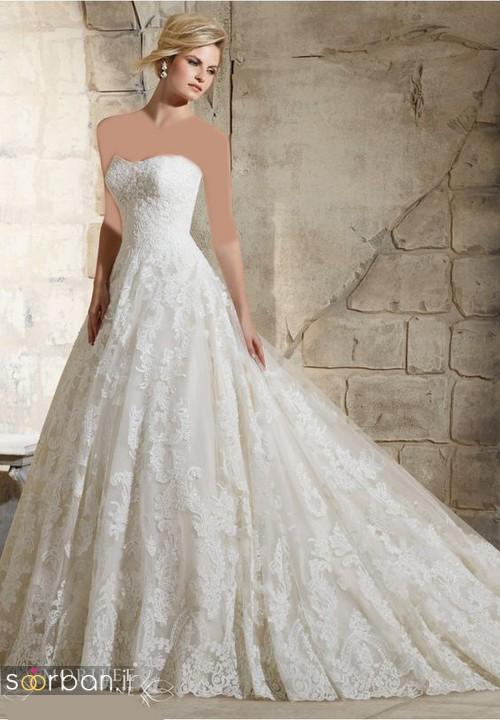 لباس عروس دکلته شیک24