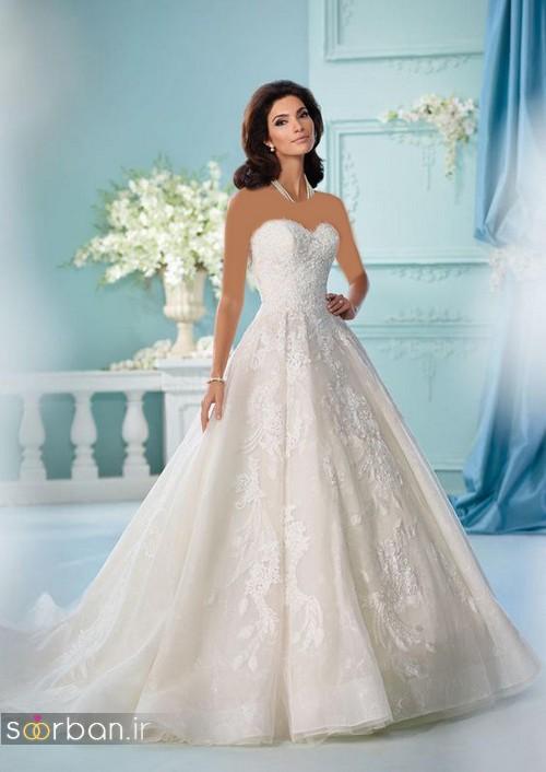 لباس عروس دکلته شیک25