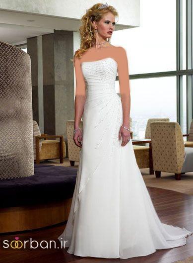 لباس عروس دکلته شیک27