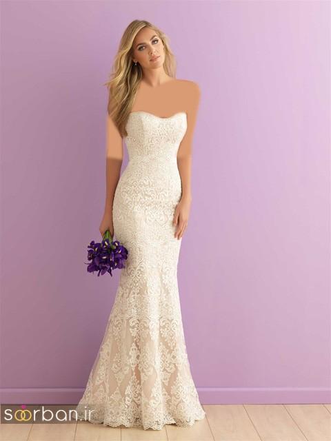 لباس عروس دکلته شیک28