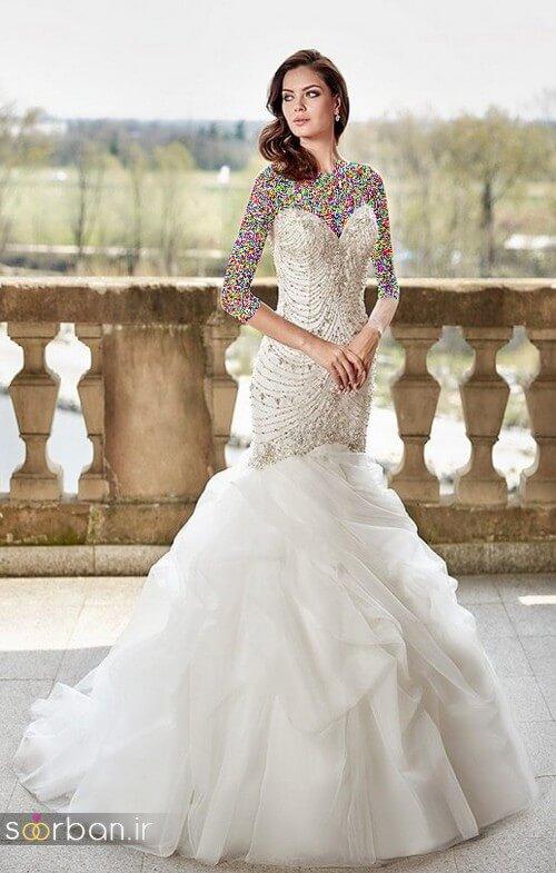 لباس عروسی جدید و شیک دامن ماهی