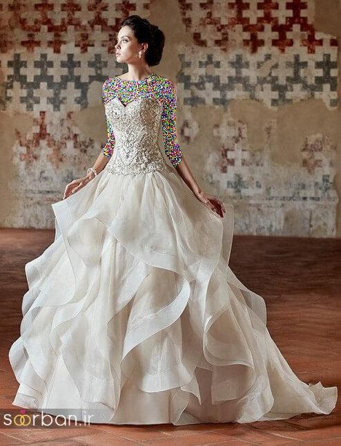 باس عروسی جدید و شیک پفی چین دار