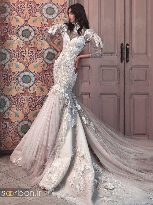 لباس عروسی جدید و شیک دنباله دار