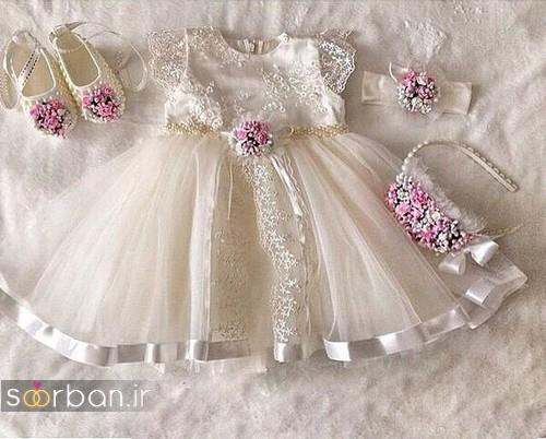 مدل مانتو ساده طرح دار لباس عروس بچه گانه جدید و زیبا