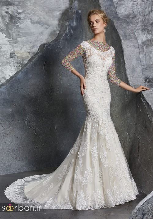 لباس عروس دانتل18