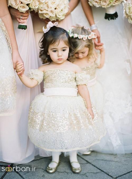 لباس عروس بچگانه 2017 شیک وجدید
