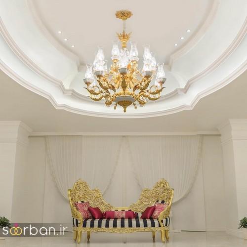 لوستر سقفی شیک مهمانخانه عروس
