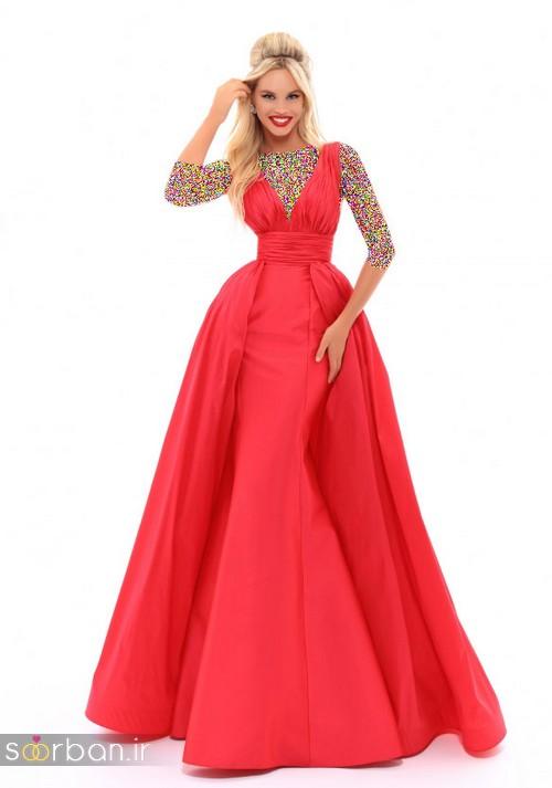 مدل لباس مجلسی بلند نقره ای شیک و جدید 2018