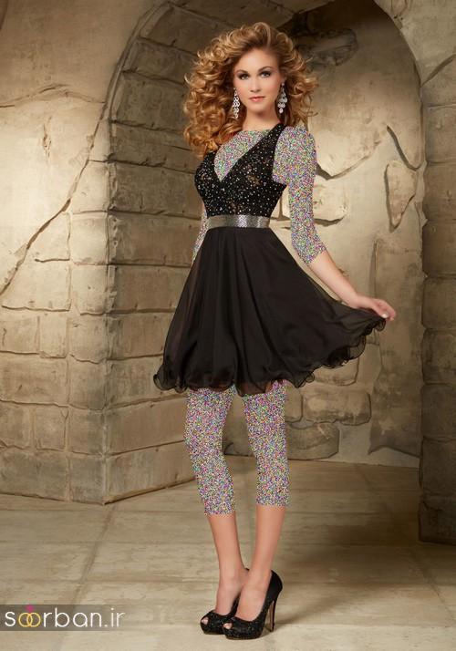 لباس مجلسی کوتاه دخترانه عروسکی