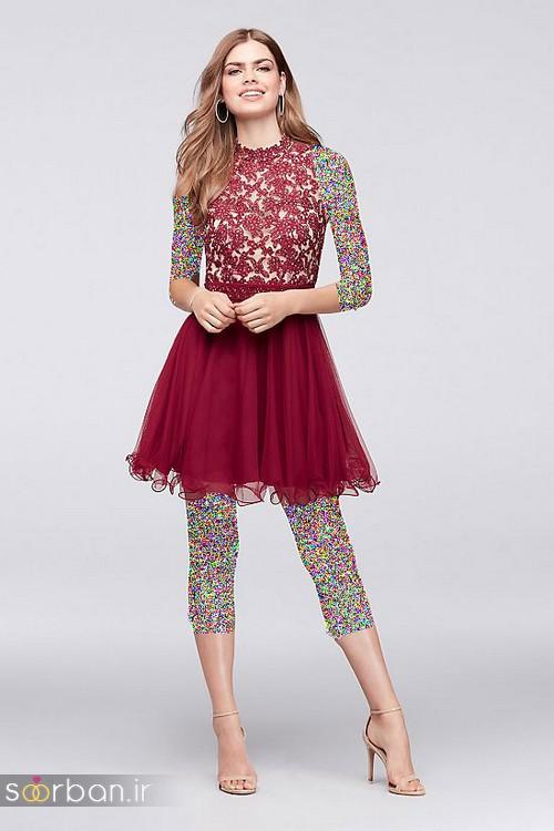 لباس مجلسی کوتاه دخترانه عروسکی 11