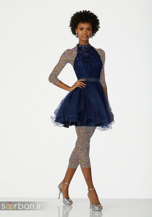 لباس مجلسی کوتاه دخترانه عروسکی 15