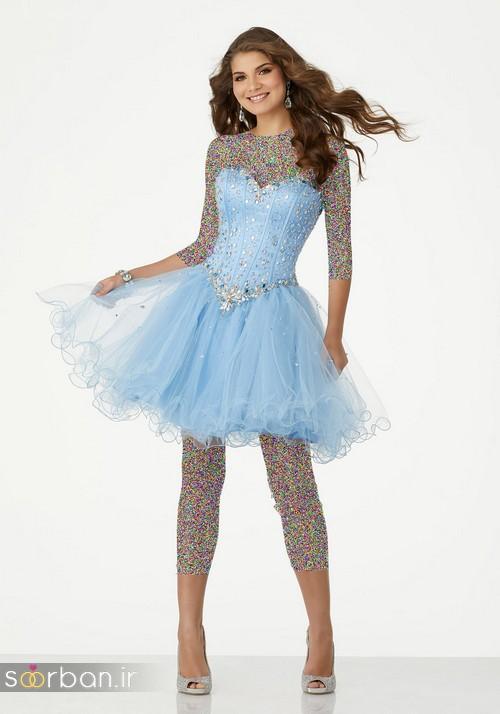 لباس مجلسی کوتاه دخترانه عروسکی 18