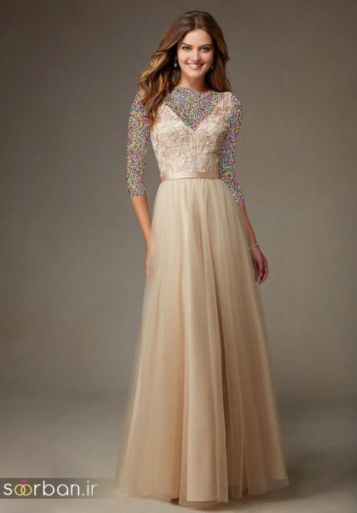 لباس زنانه ساقدوش عروس بلند8