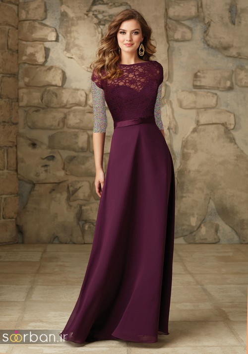 لباس زنانه ساقدوش عروس بلند