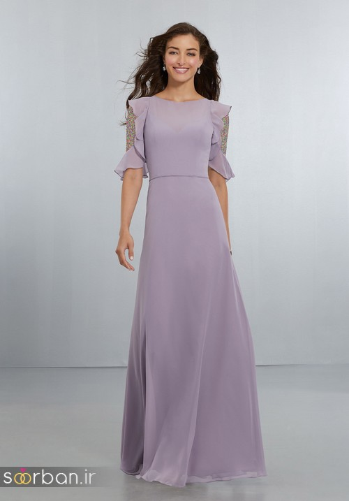 لباس زنانه ساقدوش عروس بلند13