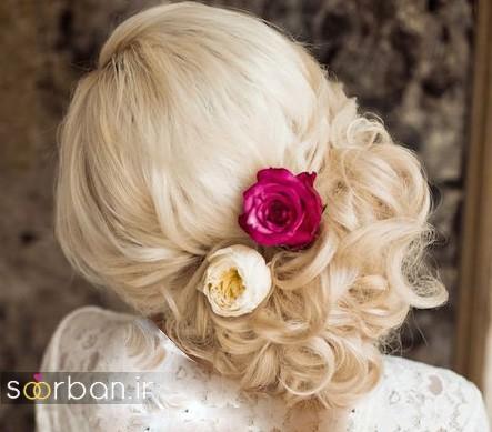 شینیون عروس 2017 زیبا و جدید شیک و مدرن