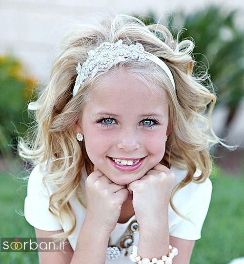 مدل مو بچگانه دختر برای عروسی 2017 با تل و بابیلیس