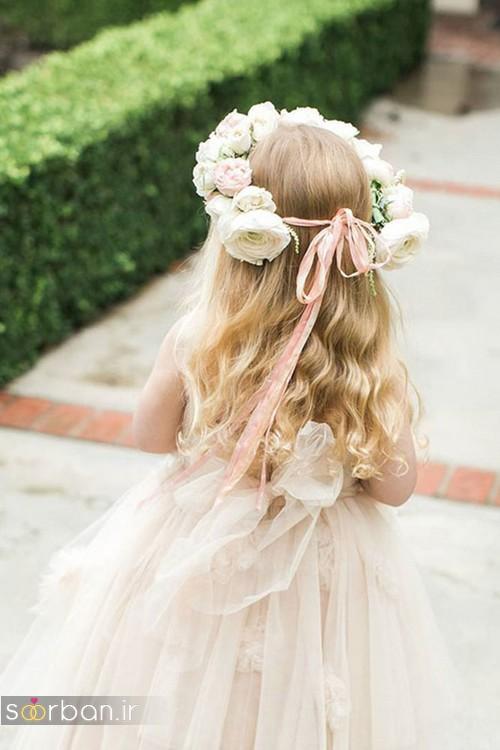 مدل مو بچه گانه دختر زیبا برای عروسی