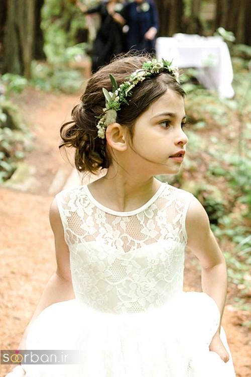 مدل مو بچگانه دختر برای عروسی 2017 باریسه گل