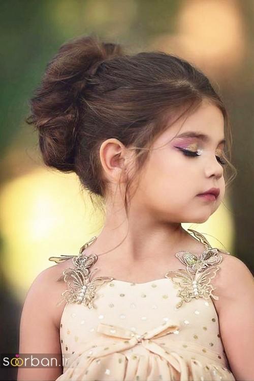 مدل مو بچگانه دختر برای عروسی 2017 با شینیون