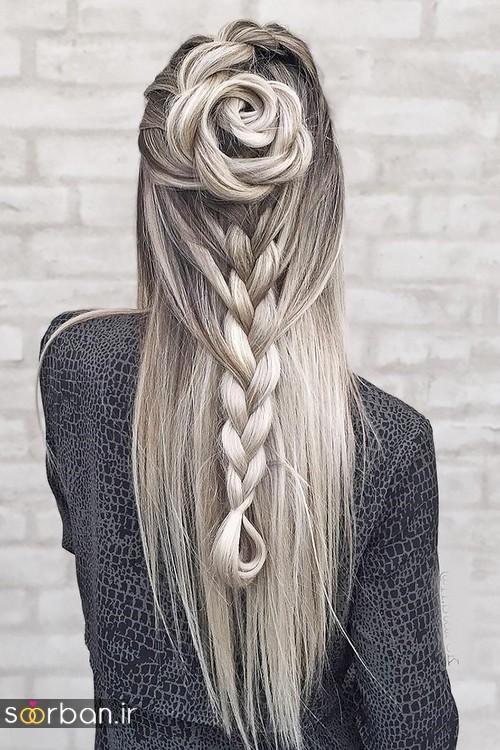 مدل بافت مو دخترانه برای عروسی ساده