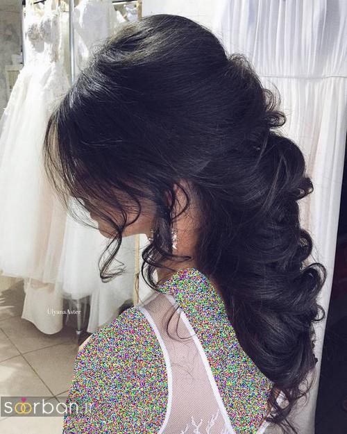 مدل مو عروس مشکی جدید 2017 متفاوت