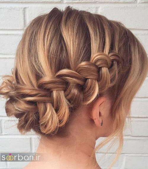 مدل مو کوتاه عروس بسیار زیبا و جدید