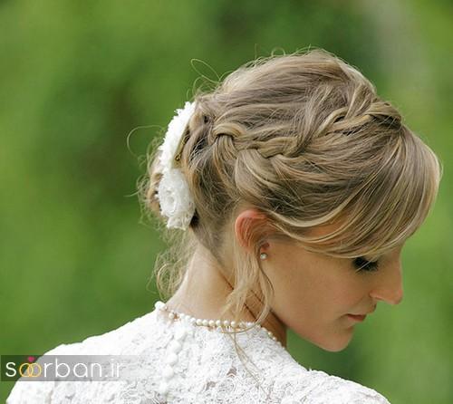 مدل مو آرایش کوتاه عروس شیک و زیبا 2017