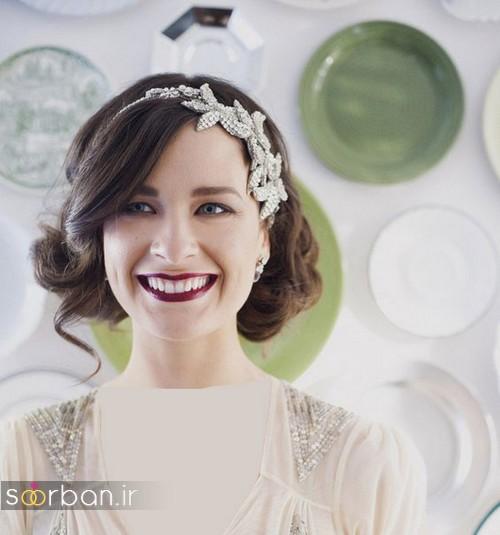 مدل مدل مو کوتاه عروس با تل