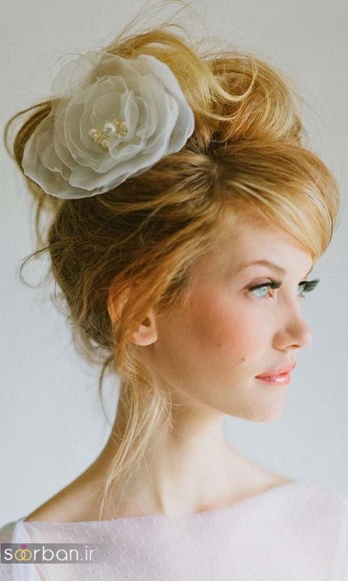 شینیون مو کوتاه عروس