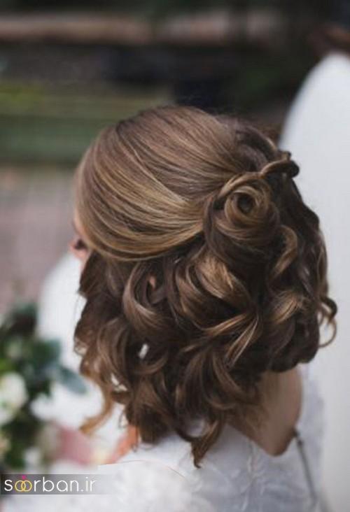 مدل مو کوتاه عروس با بابیلیس